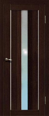Дверь La Stella 207, стекло матовое, цвет дуб мокко, остекленная