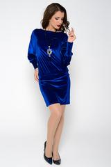 Великолепное нарядное платье удачного покроя, подчеркивающее достоинства Вашей фигуры. Заниженная талия на резинке. (Длина платья: 44р.=94см; 46-50р=96см.)