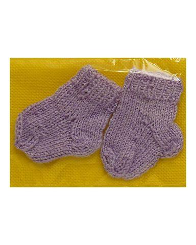 Носки - Сиреневый. Одежда для кукол, пупсов и мягких игрушек.