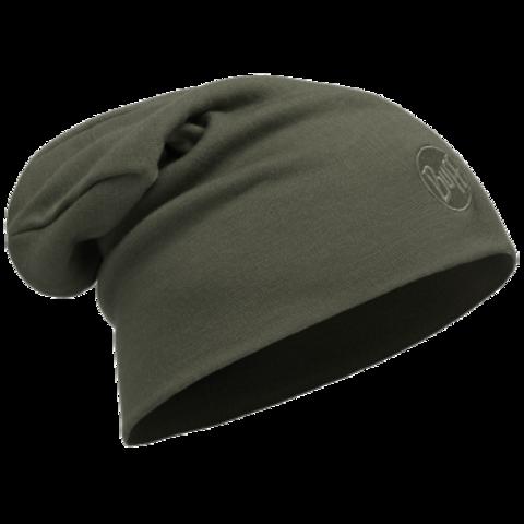 Теплая шерстяная шапка-бини Buff Solid Forest Night