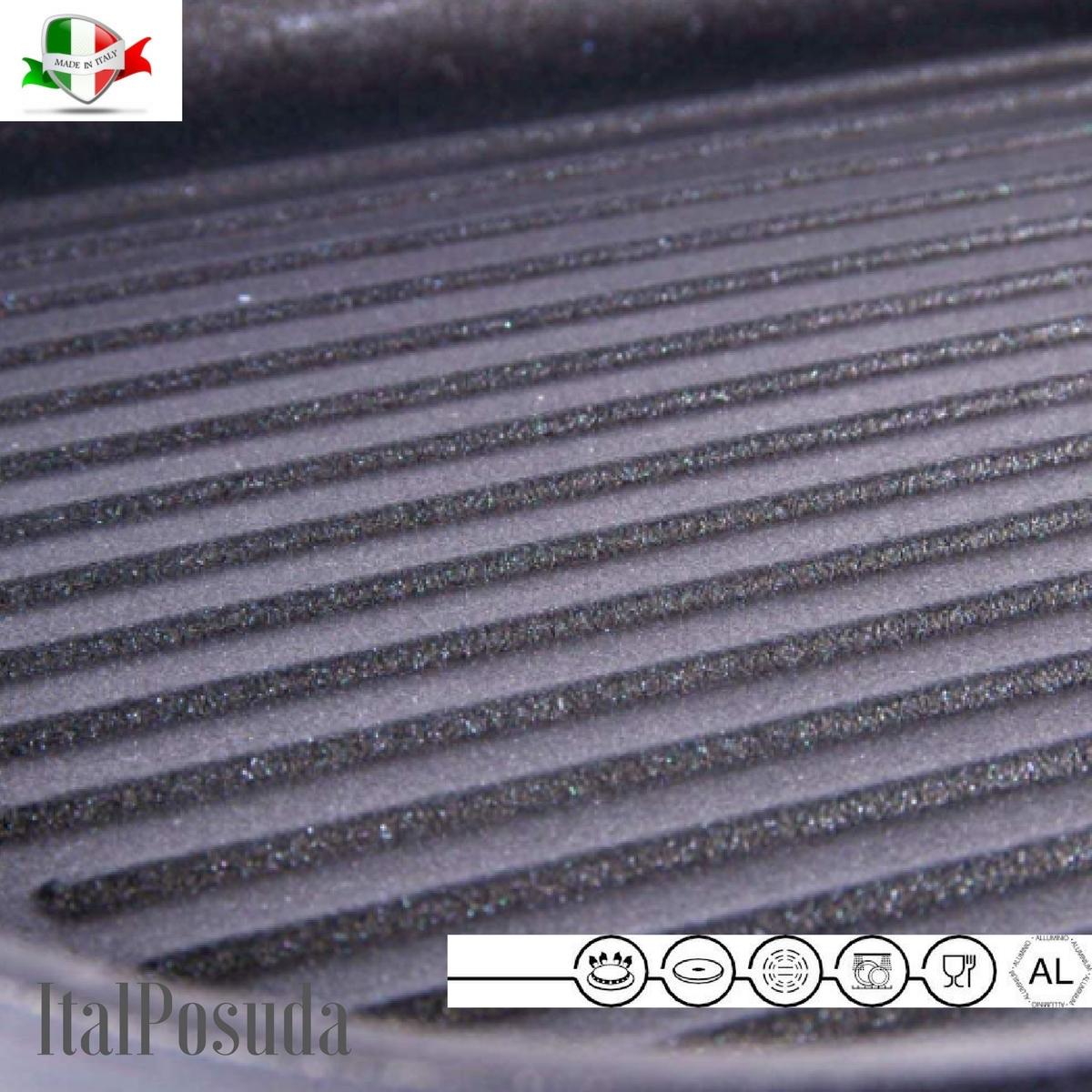 Сковорода гриль TIMA Titan Granit, 28х28 см