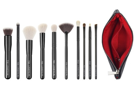 Набор из 9 кистей LOVETO.PL - Set of 9 makeup brushes + cosmetic bag (PL)