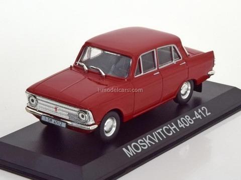 Moskvich-408-412 red 1:43 DeAgostini Masini de legenda #10