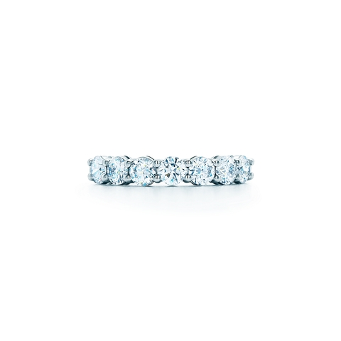 Кольцо-дорожка lux из серебра с круглыми цирконами