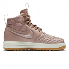 Зимние Nike Lunar Force 1 Duckboot Pale Pink With Fur