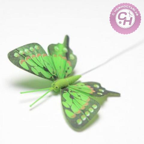 Бабочки цветные с темным краем, 8 см.