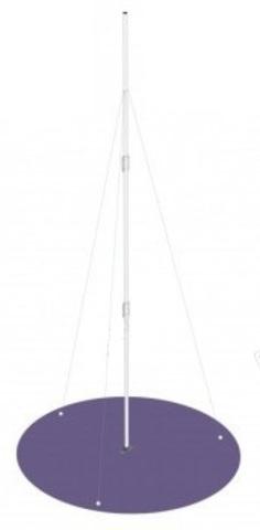 Мачта антенная M45D-3 (4.5 метра, 3 колена) с проволочной  растяжкой