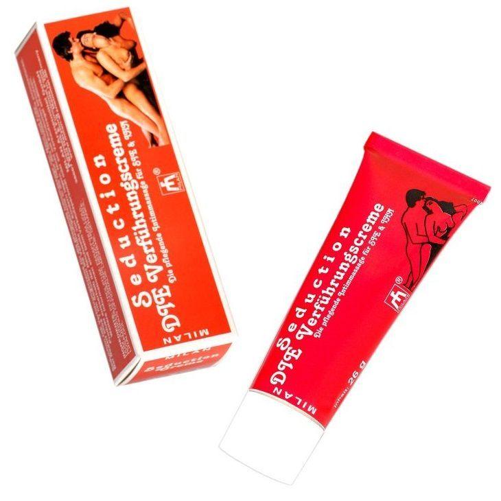 Возбуждающие: Возбуждающий интимный крем для мужчин и женщин Seduction - 28 мл.