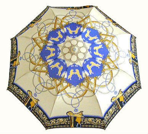Зонт складной Guy de Jean 3512-blu Les Chevaux