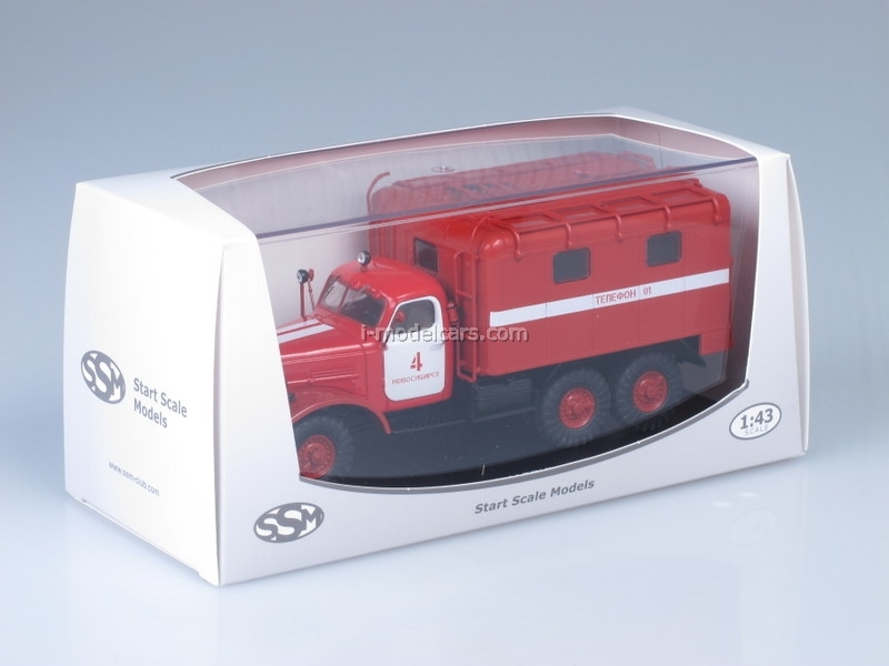 ZIL-157K AR-2 Fire Engine Sleeve 1:43 Start Scale Models (SSM)