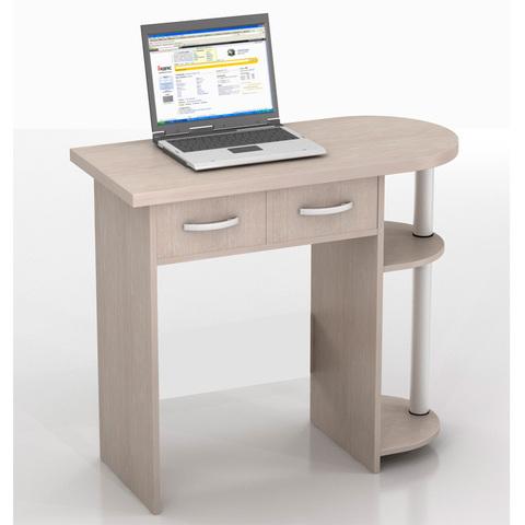 Компьютерный стол ИВОЛГА КС-10С беленый дуб