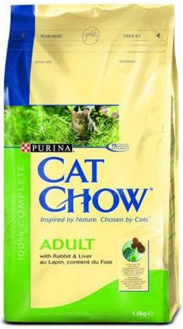 Cat Chow Для кошек с кроликом и печенью (adult rabbit) 15 кг