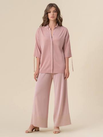 Женский джемпер светло-розового цвета из вискозы - фото 3