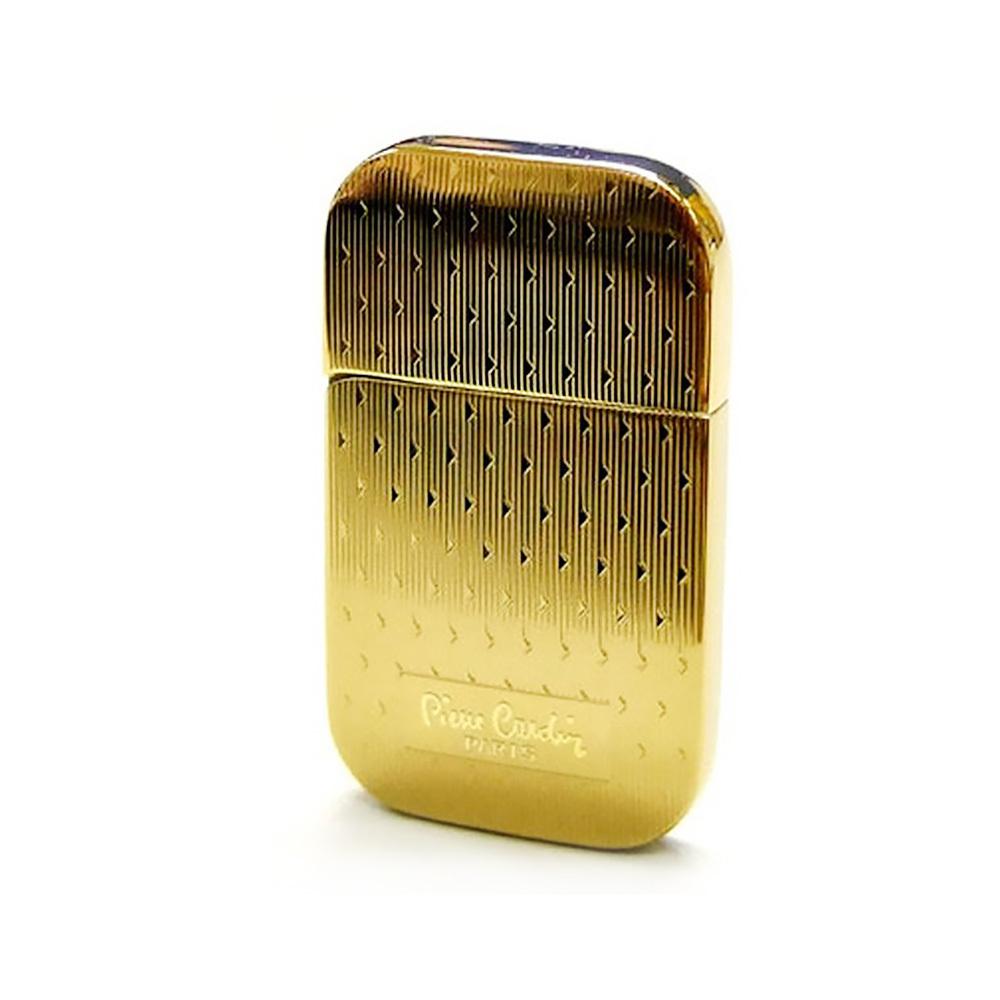 Зажигалка Pierre Cardin кремниевая газовая, цвет позолота с насечкой, 3,5х0,8х6см