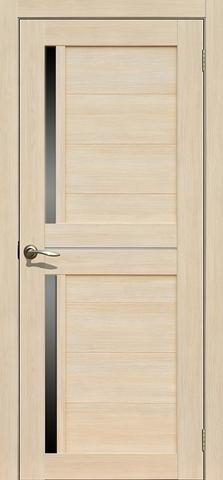 Дверь La Stella 222, стекло матовое, цвет ясень латте, остекленная