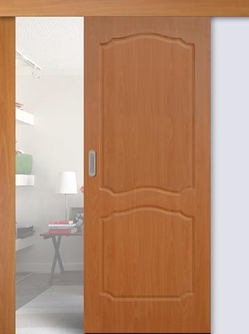 Дверь раздвижная Сибирь Профиль Классика, цвет миланский орех, глухая