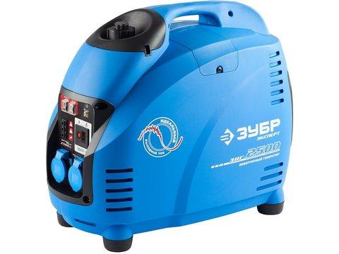 Генератор инверторный, ЗУБР Профессионал ЗИГ-2500, однофазный (220 В), 4-тактный, низкий уровень шума, с-ма