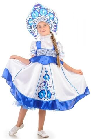Русский народный костюм Гжель девочка 1