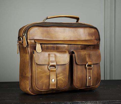 Мужская винтажная сумка с ремнем через плечо