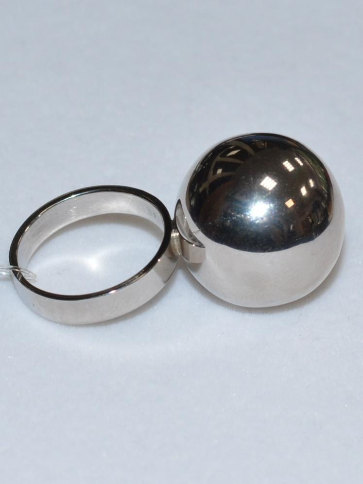 Шар 2,5  (кольцо из серебра)