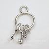 "Подвеска ""Связка ключей"" (цвет - античное серебро) 26х13 мм"
