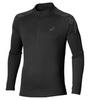 Мужская рубашка для бега Asics Stripe Zip Top 134102 0904 черная