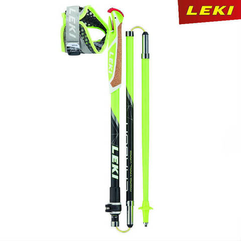 Скандинавские палки Leki Micro Trail Vario Neon Premium Carbon 100% Германия