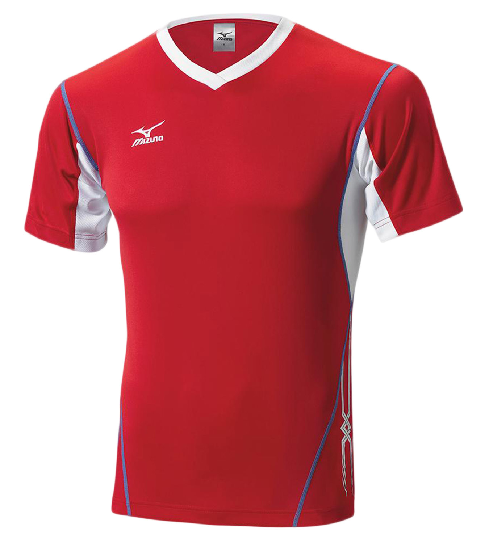 Мужская волейбольная футболка Mizuno Premium Top (V2EA4501M 62) красная