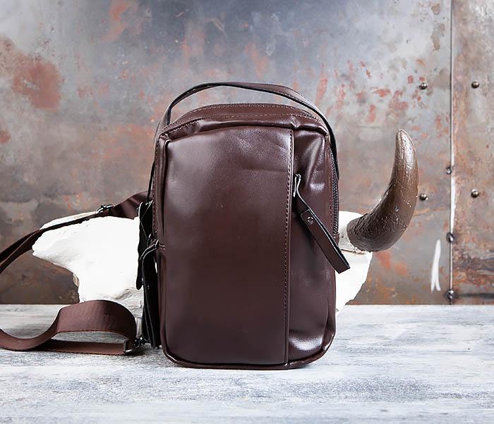 BAG452-2 Коричневый рюкзак с одной лямкой через плечо фото 02