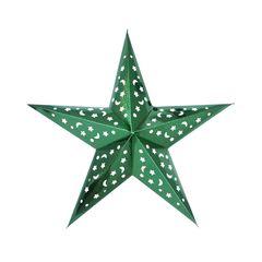 Звезда бумажная 60 см голографическая зеленая