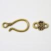 Замок - крючок из 2х частей 36х12 мм (цвет - античное золото)