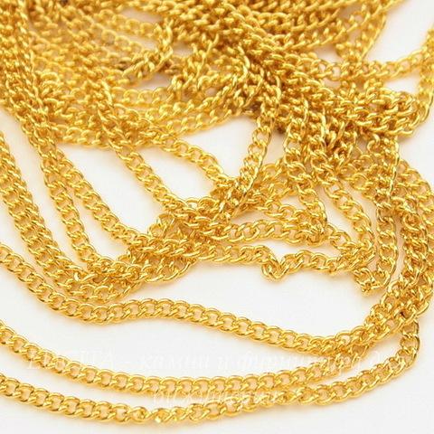 Цепь (цвет - золото) 2х2 мм, примерно 5 м