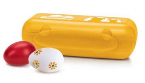 Контейнер для 10 яиц в желтом цвете