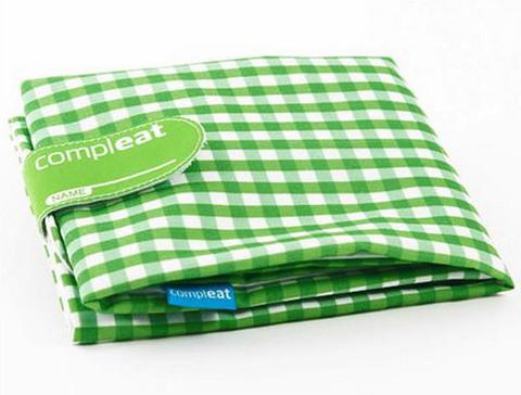 Ланч-Бокс для бутербродов Foodwrap, зеленый с белым