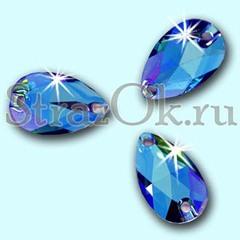 Drope Sapphire AB Пришивные акриловые стразы купить в интернет магазине Strazok.ru