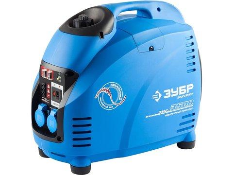 Генератор инверторный, ЗУБР Профессионал ЗИГ-3500, однофазный (220 В), 4-тактный, низкий уровень шума, с-ма