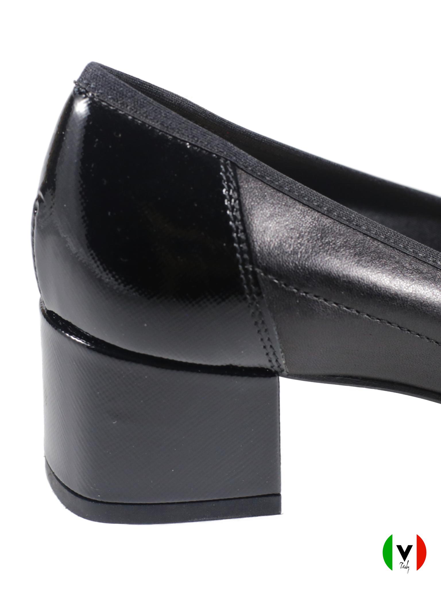 Осенние туфли Napoleoni каблук 3 см 4123, артикул 4123, сезон осень, цвет чёрный, материал кожа, цена 7 000 руб., veroitaly.ru