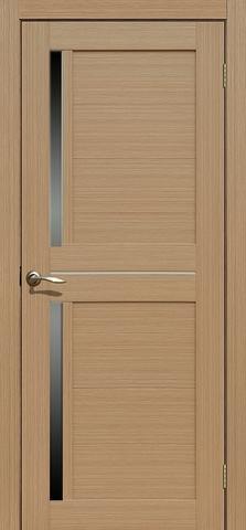 Дверь La Stella 222, стекло матовое, цвет тиковое дерево, остекленная