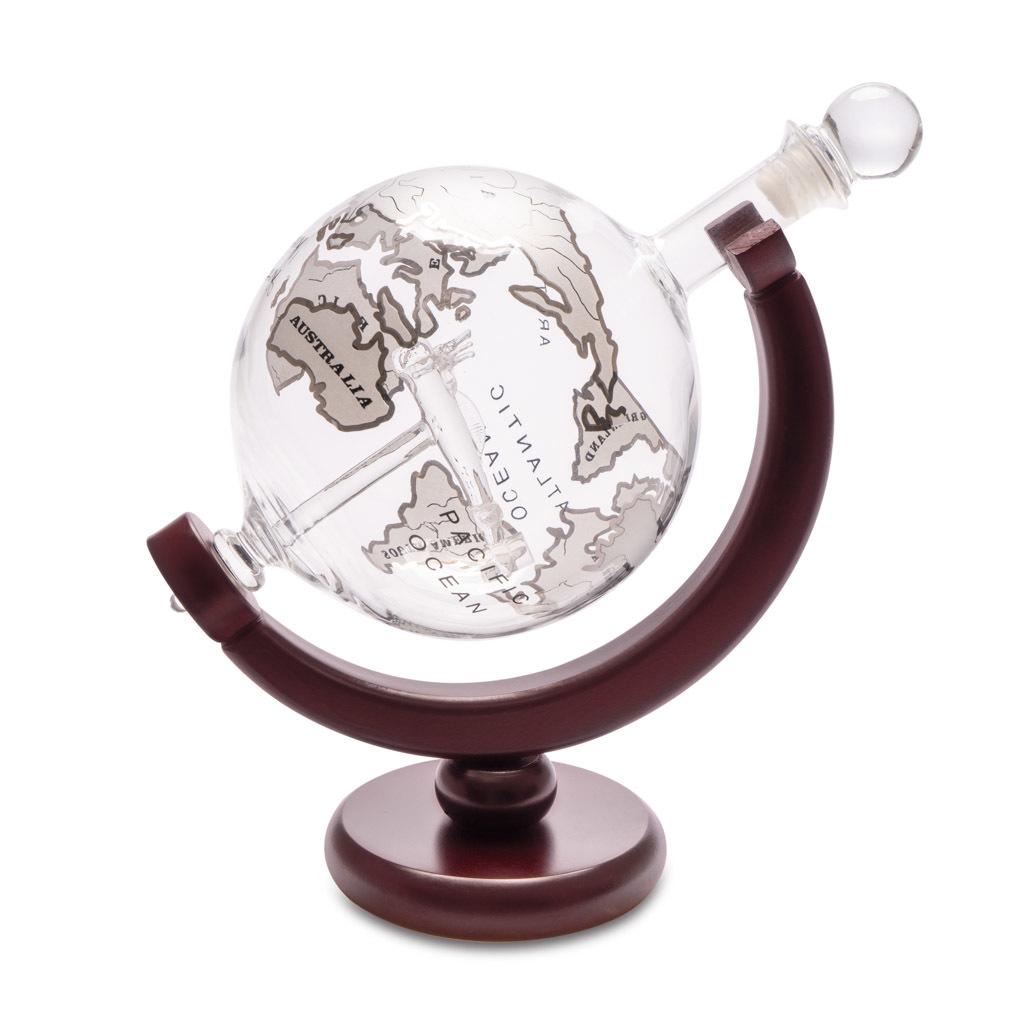 Декантер для виски с деревянной подставкой Globe 0.8л от 4 800 руб