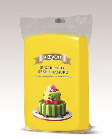 Мастика сахарная желтая Vizyon, 0,5 кг
