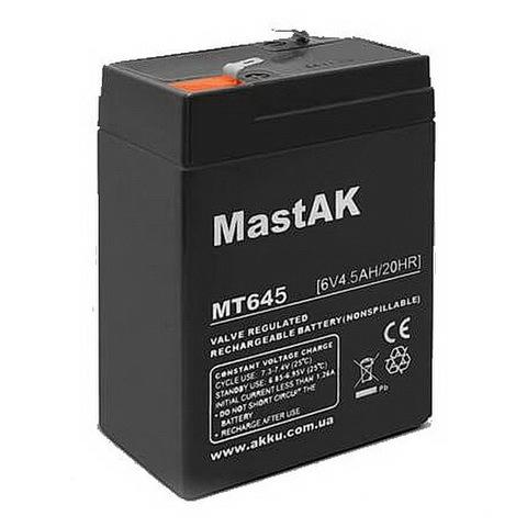 Аккумуляторы MastAk 6V 4,5A