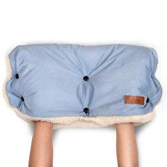 Markus. Меховая муфта для коляски Basic, Dusty Blue