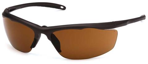 Очки баллистические стрелковые Pyramex Zumbro VGSBR218T Anti-fog коричневые 23%
