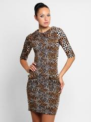 859 платье леопардовое