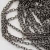 Цепь (цвет - черный никель) 5х3,5 мм, примерно 10 м