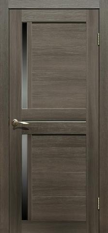 Дверь La Stella 222, стекло матовое, цвет ясень грей, остекленная
