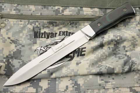 Туристический нож Егерский Полированный c Гардой Микарта