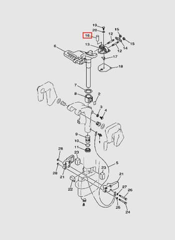 Втулка  для лодочного мотора T15, OTH 9,9 SEA-PRO (14-16)