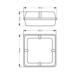 Световой указатель пожарного гидранта PL EML 3.0 - размеры