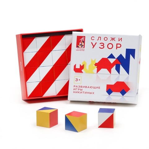 Сложи узор, картонная коробка, Игры Никитиных, арт. 001-1